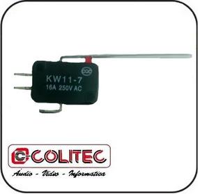 10 Pçs Interruptor Micro Switch Fim Curso C/ Haste Longa