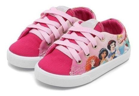 Tênis Rosa Diversão Menina Disney Infantil Princesas 24 06