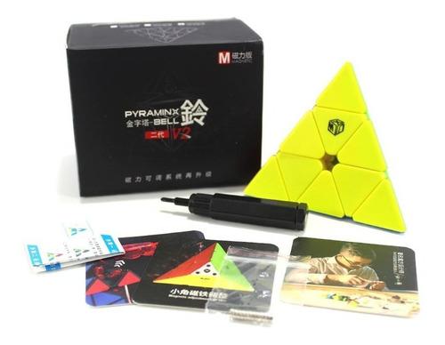 Imagem 1 de 5 de Pyraminx Qiyi X-man Bell V2 M Magnético Colorida Pirâmide
