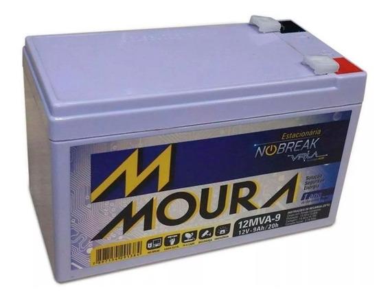 Bateria Moura Estacionária 12v 9ah 9a Nobreak Alarme