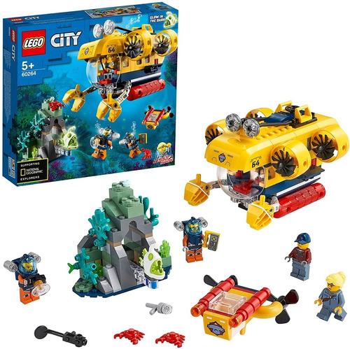 Lego City Oceans 60264 Submarino De Exploración 286 Pzs