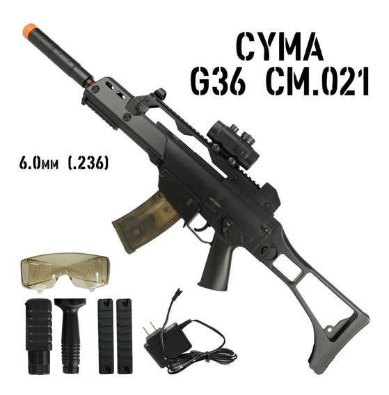 Rifle Airsoft Aeg Cyma G36 Cm 021 Bivolt 150 Fps Mais Barato
