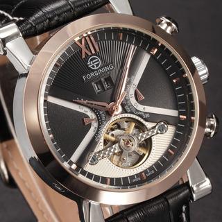 Reloj Forsining Diseño Especial Con Fecha Automatico Estuche