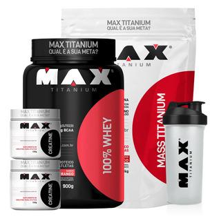 Kit Ganho Massa Muscular E Hipertrofia Max Titanium - Thanos