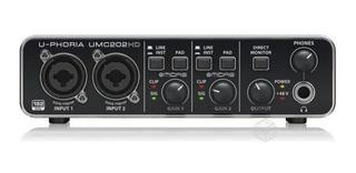 Interfaz De Audio Behringer U-phoria Umc202hd - Garantizada