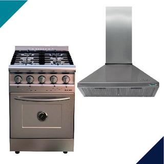 Cocina Morelli Saho 55 Cm Puerta Ciega+campana Cucinela 60cm