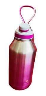 Botella Manna Deportiva Termica Acero Inoxidable Rosa 2 L