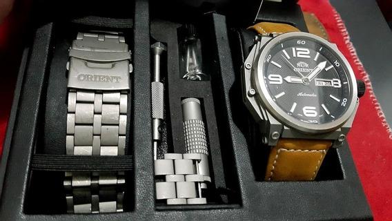 Relógio Orient Army Tech Titanium Automático Completo
