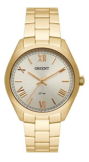 Relógio Orient Feminino Dourado Fgss0107 K3kx