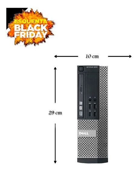 Pc Dell Sff 7010 Core I5 3° 8gb Hd 500gb Wi-fi Black Friday