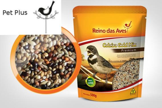 Coleira Gold Mix - Reino Das Aves 500g