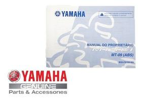 Manual Do Proprietário Mt 09 Original Yamaha