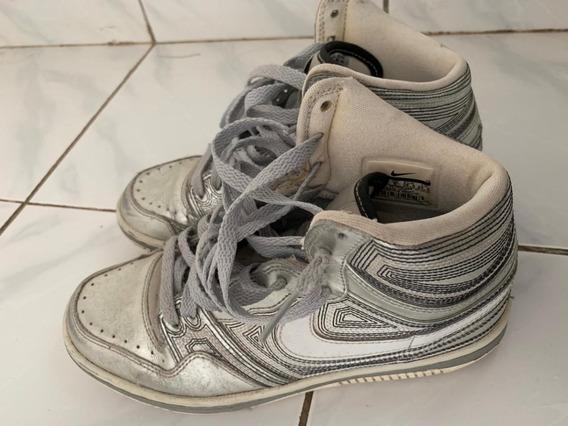 Tênis Nike Original Importado Prata Unisex