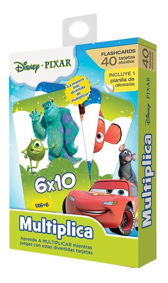 Flash Card Multiplicaciones Disney Pixar