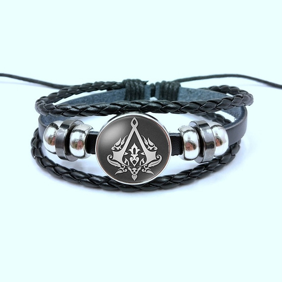 Nova Pulseira Bracelete Assassins Creed Cosplay Gamer Geek