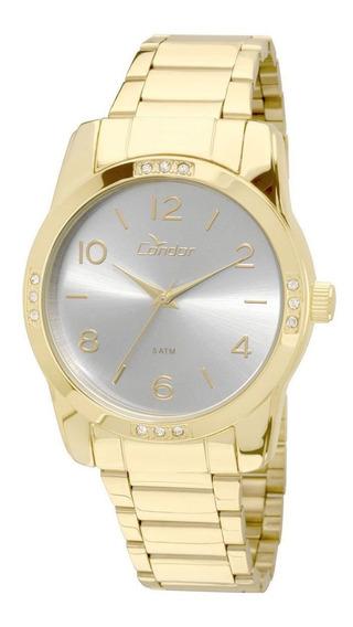Relógio Fem Condor Orig Quartzo Aço Dourado C/ N F Oferta
