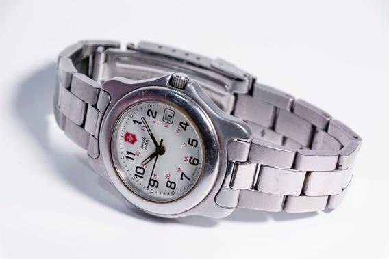 Relógio De Pulso Feminino Swiss Army Victorinox Em Aço