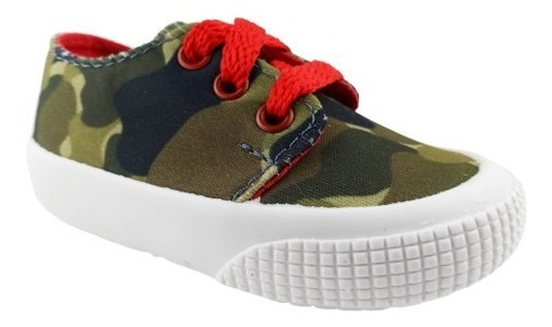 Zapatillas De Nene Verdes Camufladas Talles 18 - 26