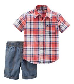 Carters Conjunto Camisa Bermuda Nene La Florida