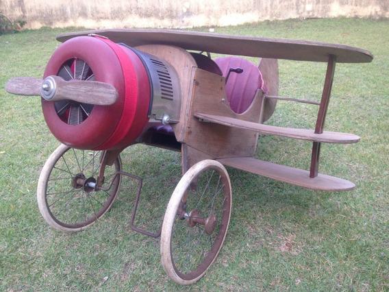 Avião Pedalcar Pedalplane Triplano Anos 50 Brinquedo Antigo