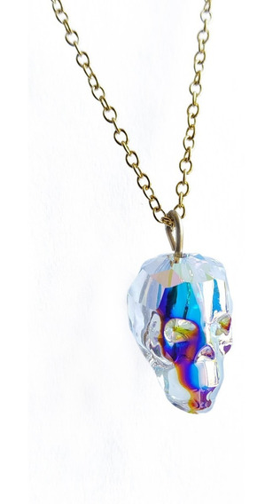 Collar Swarovski Skull Ab