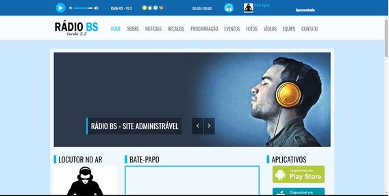Script Site Para Web Rádio + Responsivo + Instalação Grátis