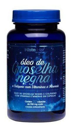 Óleo De Groselha Negra - 30 Cápsulas Mister Hair