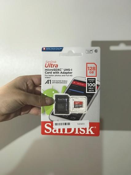 Cartão De Memória Microsdxc Sandisk Sdsquar-128g Ultra 128gb