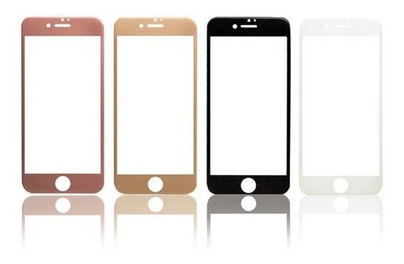 Mica 3d Cristal Templado + Bordes De Fibra De Carbono iPhone