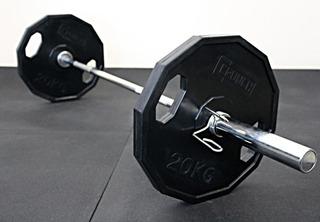Kit Treino Em Casa - Barra 1,50m E Anilhas 50,5kg