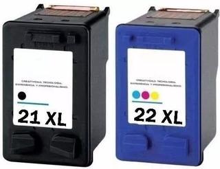Cartuchos Combo Alternativo Para Hp 21xl + 22xl F4180 D1360