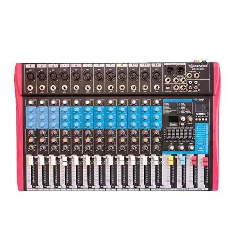 Mesa De Som Ms122eux 12 Ch Mono Xlr/p10 Soundvoice