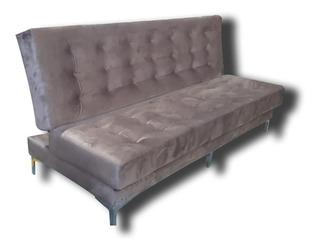Sofa Cama 190 Cm X 100 Cm Base Cromado