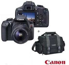 Câmera T6 18mp Eos 18-55mm + Bolsa Gadget Bag 300dg