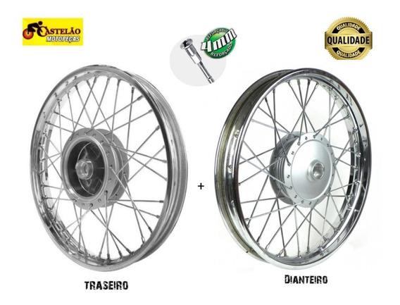Roda Montada Moto Titan- Fan 125 Traseira E Dianteira