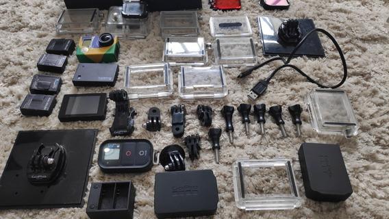 Gopro Hero3 Black + Tela + Baterias + Vários Acessórios