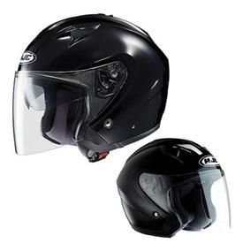 Capacete Hjc Is-33 Preto Brilho Hjc Oficial Harley Davidson