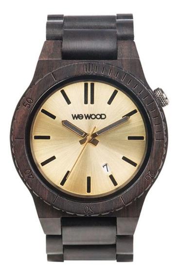 Relógio Madeira Wewood Masculino Arrow Black/gold Wwar03 Nfe
