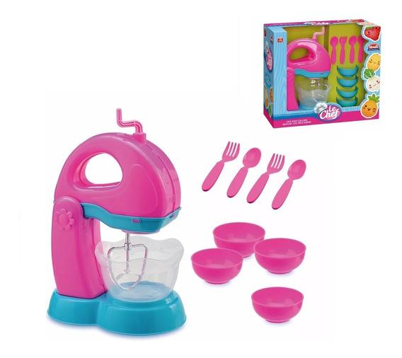 Batedeira Infantil Vários Acessórios Para Brincar De Cozinha