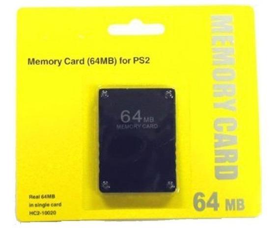 Memory Card 64 Mb Para Playstation 2 Ps2 - Pronta Entrega