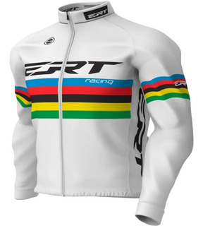 Casaco Ert Campeão Mundial Branco Ciclismo Mtb Térmico