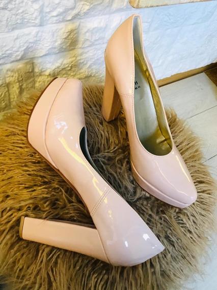 Zapato Stilettos Dama Mujer Fiesta Rosa Ultimo 40 Art1208
