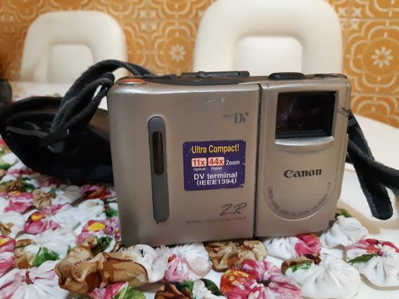 Filmadora Câmera Mini Dv Canon Zr No Estado Leia A Descrição