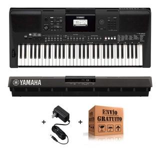 Teclado Yamaha Psr E463 Organo Sensitivo - 61 Teclas 758 Voces 48 Notas Polifonia Parlantes 2 X 2,5 W + Fuente + Envio