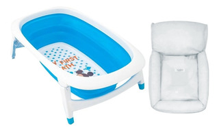 Bañera Bebé Plegable 25lts Reclinable + Flotador Regalo
