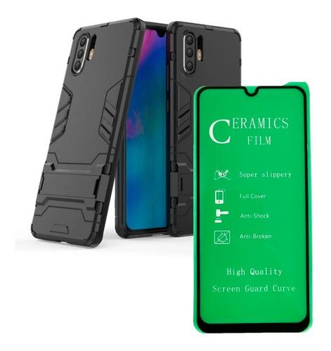 Estuche Funda Huawei P30 Pro + Vidrio Templado 3d Curvo