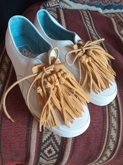 Zapatillas Vans Dama Flecos Únicas Nuevas