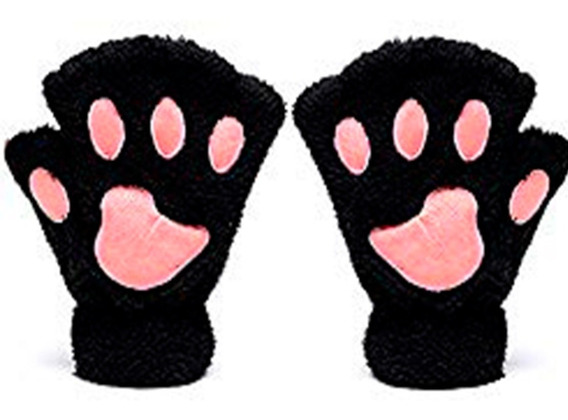 Guantes Cat Gloves Manito Con Huella Garra Perro Gato Winter