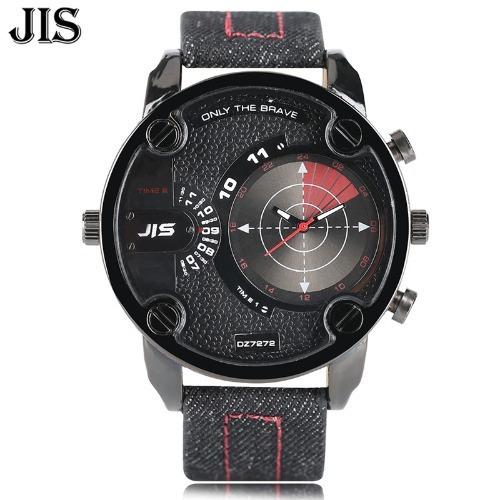 Relógio Preto Vermelho Importado Jis Masculino Homem