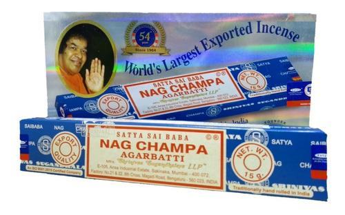 Imagem 1 de 4 de Incenso Nag Champa Satya Sai Baba Cx.12un. + Brinde + Frete